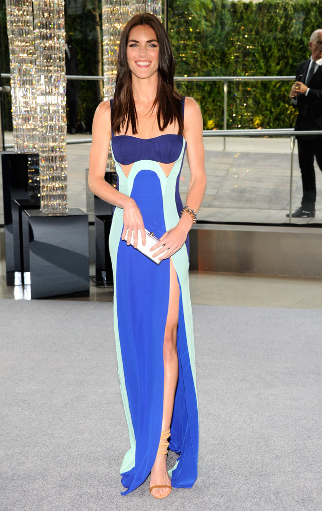 Hilary Rhoda donned a sexy Rebecca Minkoff cutout gown in shades of blue at the 2012 CFDA Fashion Awards.