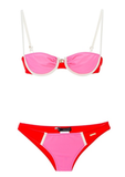 A bright bikini is a Summer must. Even if you just want to take a dip in the hotel hot tub, you'll be happy you remembered to pack a suit you love.  Dsquared2 Bandeau Bikini ($343)