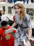 Princess Beatrice's hat was by Stephen Jones.