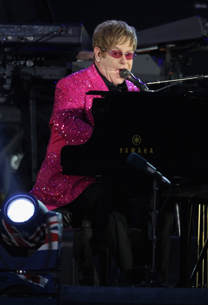 Elton John performed at the Diamond Jubilee Concert at Buckingham Palace.