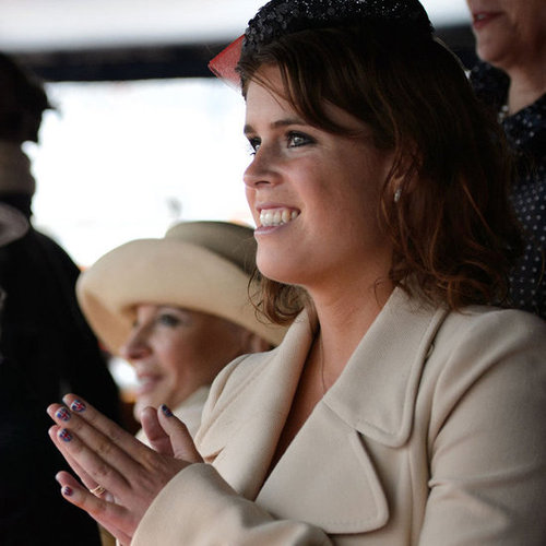 Princess Eugenie Wears Union Jack Nails at the Diamond Jubilee