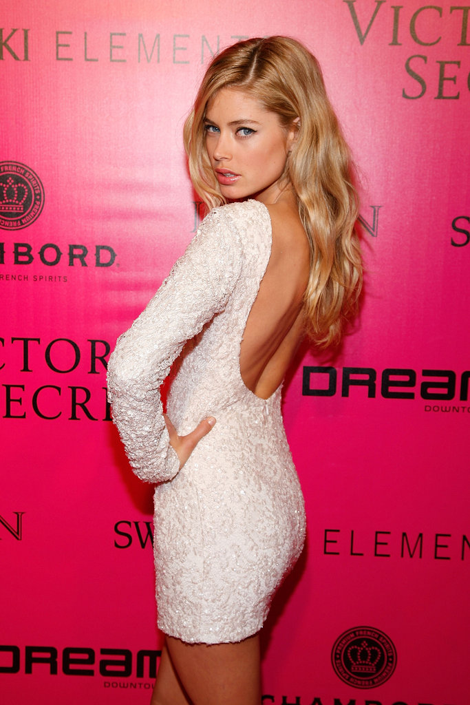 Doutzen Kroes at the 2011 Victoria's Secret Fashion Show afterparty in New York in November 2011.