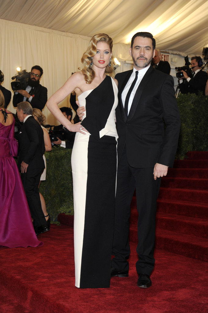Doutzen Kroes wore a dress by her date, Roland Mouret, to the 2012 Costume Institute Gala in New York in May 2012.