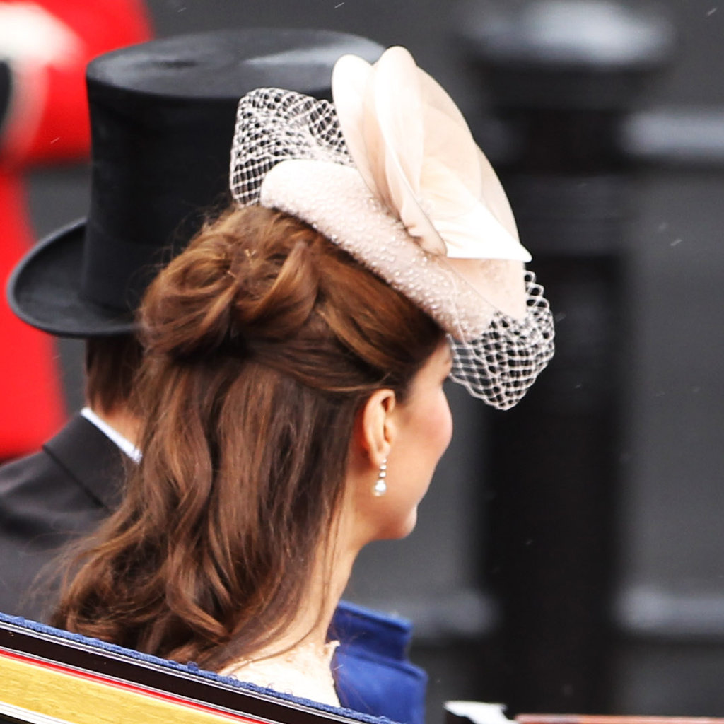 2. Kate Middleton's Swirly Half-Updo