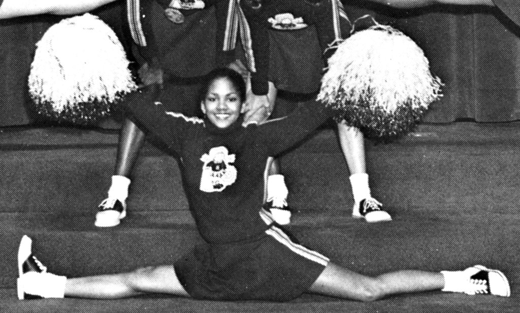Halle Berry showed off some impressive moves as a cheerleader.