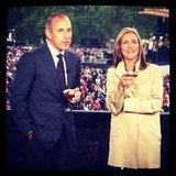 Matt Lauer and Meredith Vieira covered the Diamond Jubilee from Buckingham Palace. Source: Instagram user todayshow