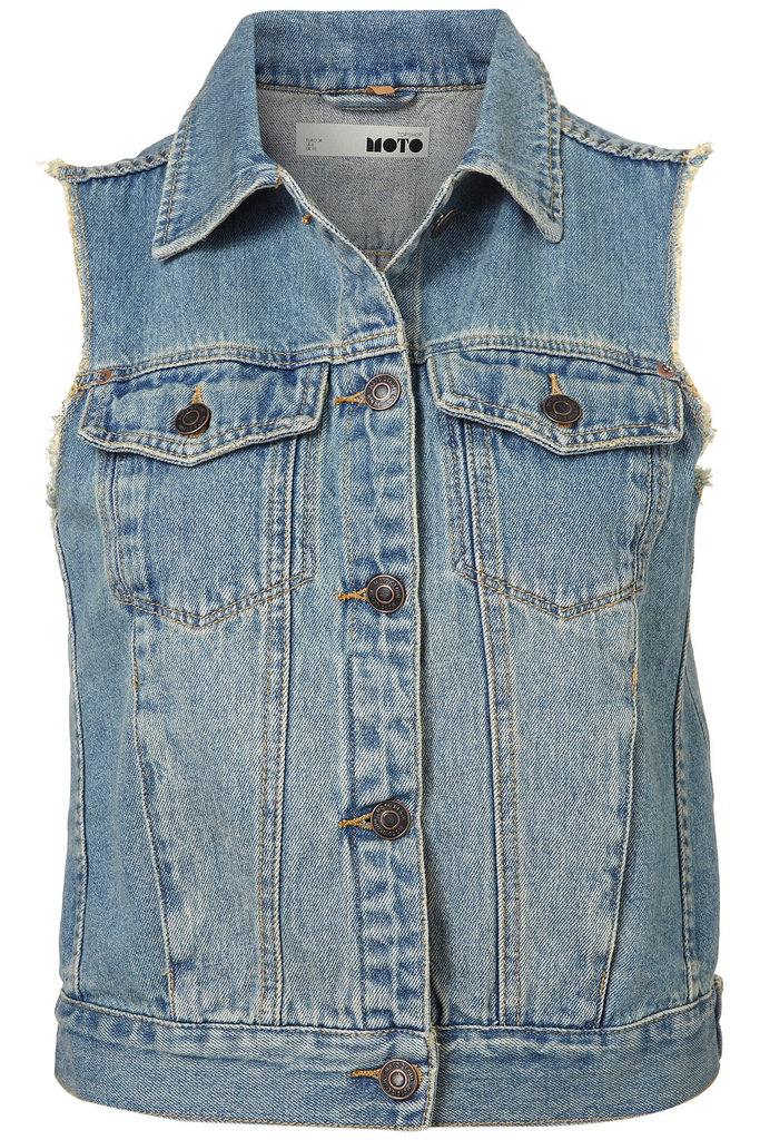 Throw this denim vest over everything, period.  Topshop MOTO Sleeveless Denim Jacket ($76)