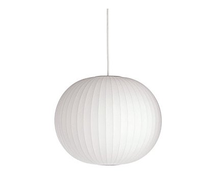 This Nelson Ball Pendant ($435) is the perfect lighting piece to mirror the modern white table.