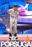 Justin Bieber played a game on El Hormiguero.
