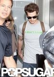 Andrew Garfield and Emma Stone held hands at LAX.