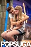 Justin Bieber hugged a fan on El Hormiguero.