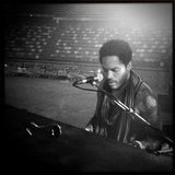Lenny Kravitz shared a photo from his sound check. Source: Twitter user LennyKravitz