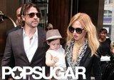 Rachel Zoe carried baby Skyler in NYC.