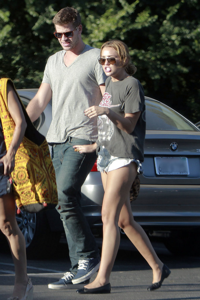 Miley Cyrus and Liam Hemsworth stepped out for sushi in LA in August 2011.