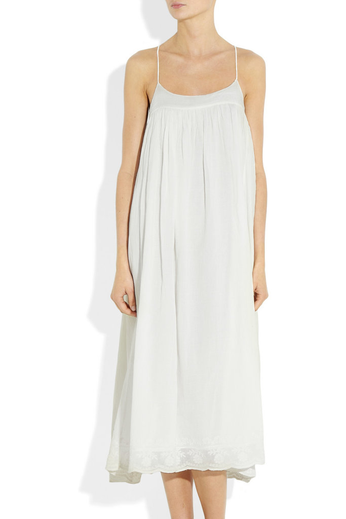 Hello, perfect white sundress! Add flat sandals for a daytime look or bright wedges for a fun evening feel. DAY Birger et Mikkelsen Eva Embroidered Cotton-Muslin Dress ($220)