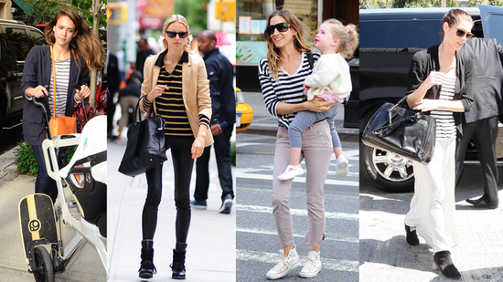 See How These Four Celebs Style Up Their Stripes!