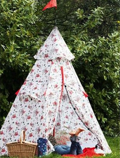 To help make your Cath Kidston Cowboy Teepee Tent ($116) even more recognizable in a crowd, add a festive flag to its crown.