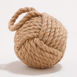 This Hemp Rope Doorstop ($13) can also be displayed on a bookshelf, mantel, or tabletop as an accessory.