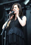 Joy showed her growing baby bump during her Sasquatch! Music Festival performance in Washington in May.