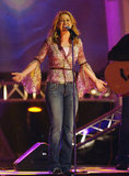 Joy belted out a song during her performance at the 2003 Dove Awards.