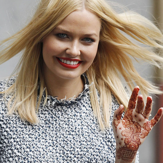 See Lara Bingle's Henna Tattoo Up Close