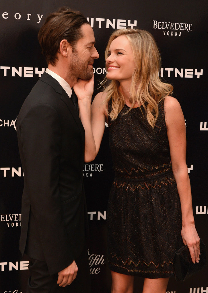 Kate Bosworth and Michael Polish showed some affection at the Whitney Art Party in NYC.