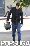 Orlando Bloom headed to the gym.