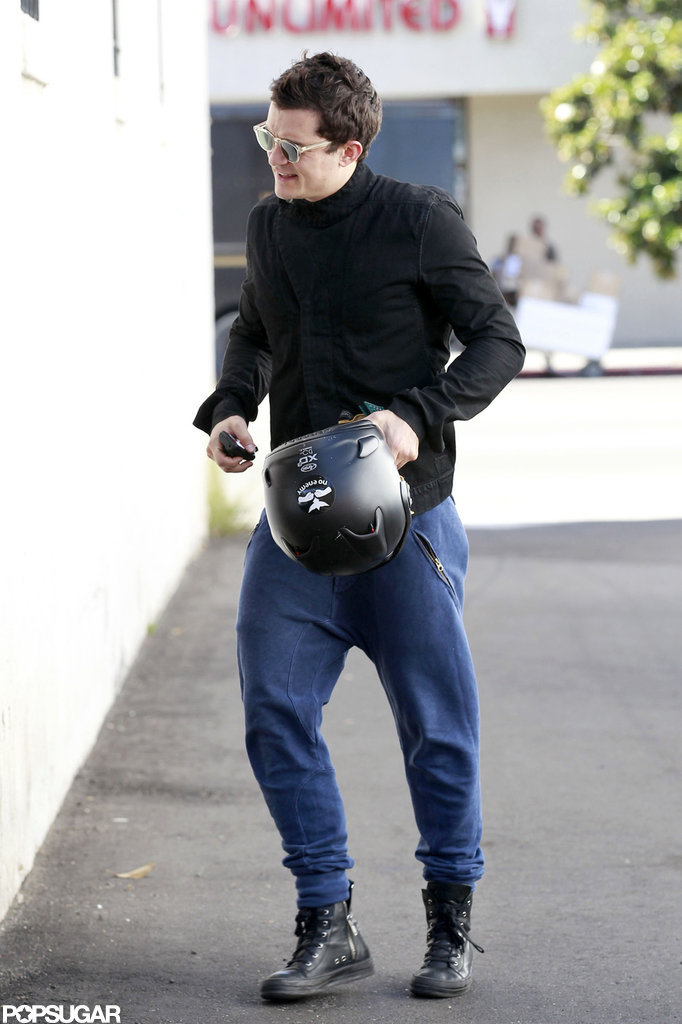 Orlando Bloom headed to a workout.