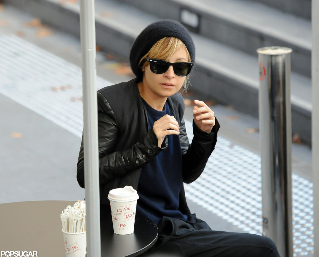 Nicole Richie enjoyed a morning coffee in Australia.