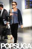 Ryan Gosling walked through the Toronto airport.