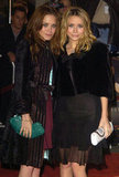 Mary-Kate Olsen sported darker locks than Ashley Olsen in 2003 at The Last Samurai premiere in LA.