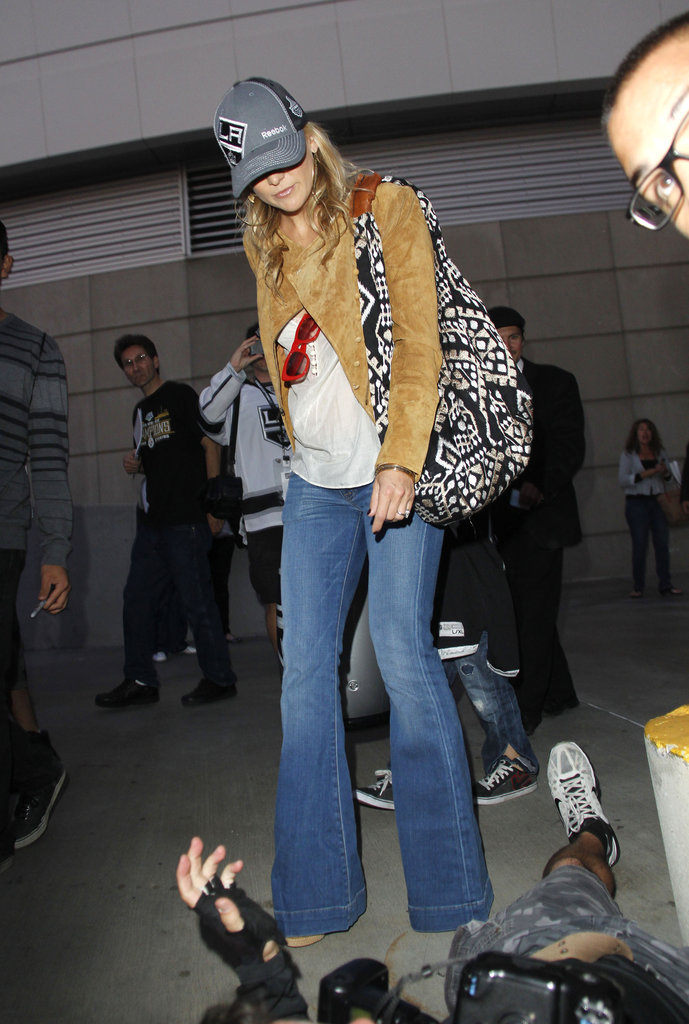 Kate Hudson wore an LA Kings hat leaving the Stanley Cup finals game in LA.