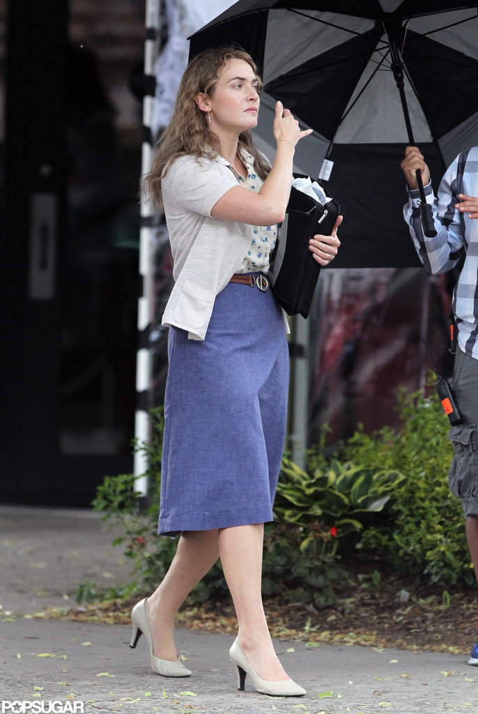 Kate Winslet shot a scene for her new film Labor Day in Massachusetts.