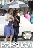 Kate Winslet wore heels and a skirt while filming Labor Day.