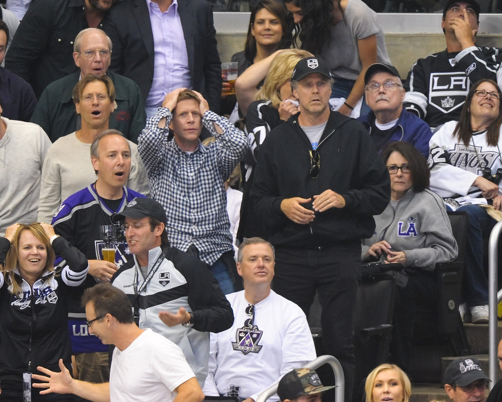 Will Ferrell cheered on the LA Kings at the Stanley Cup finals game in LA.