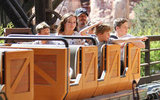 David Beckham and Brooklyn Beckham went on a ride together at Disneyland.