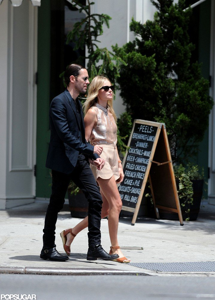 Michael Polish and Kate Bosworth held hands for a stroll in the city streets of NYC.