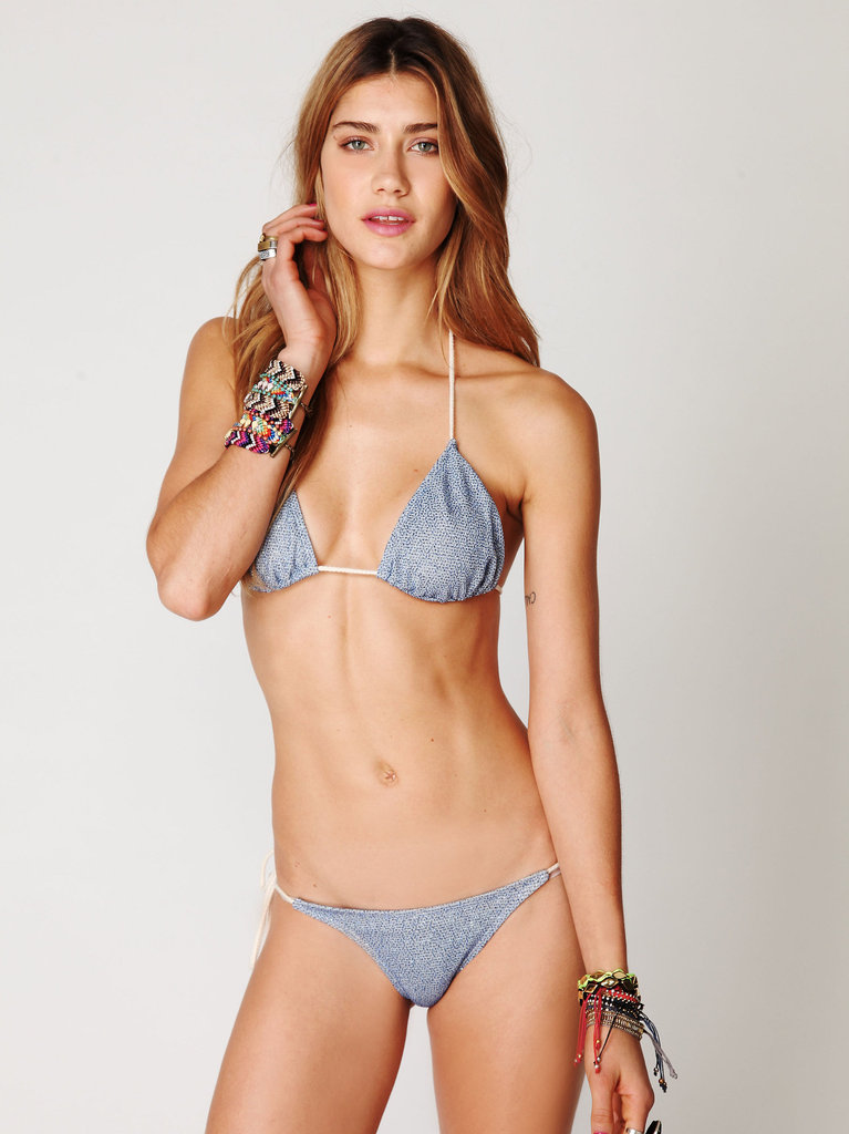 This slinky bikini is one part bohemian, one part nautical. Free People Shimmer String Bikini ($148)