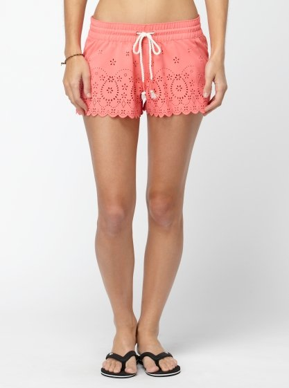 Can you believe these laser-cut shorts are suede, too? We're loving the scalloped hem and rope drawcord. Roxy Sun Gypsy Boardshorts ($48)