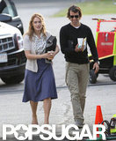 Kate Winslet had her boyfriend Ned Rocknroll visit on the set of Labor Day.