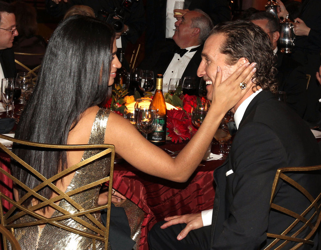 Camila Alves showed Matthew McConaughey love in the audience at LA's AFI Life Achievement Awards in June 2011.