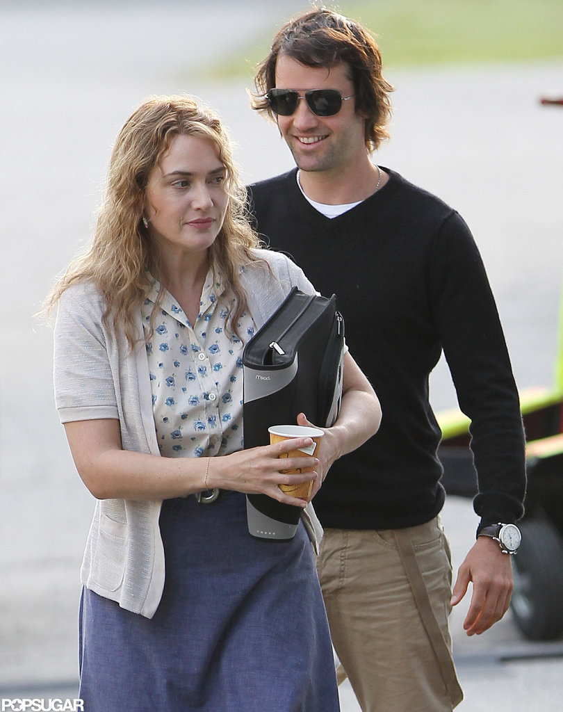 Ned Rocknroll came to Boston to visit Kate Winslet on the set of Labor Day.