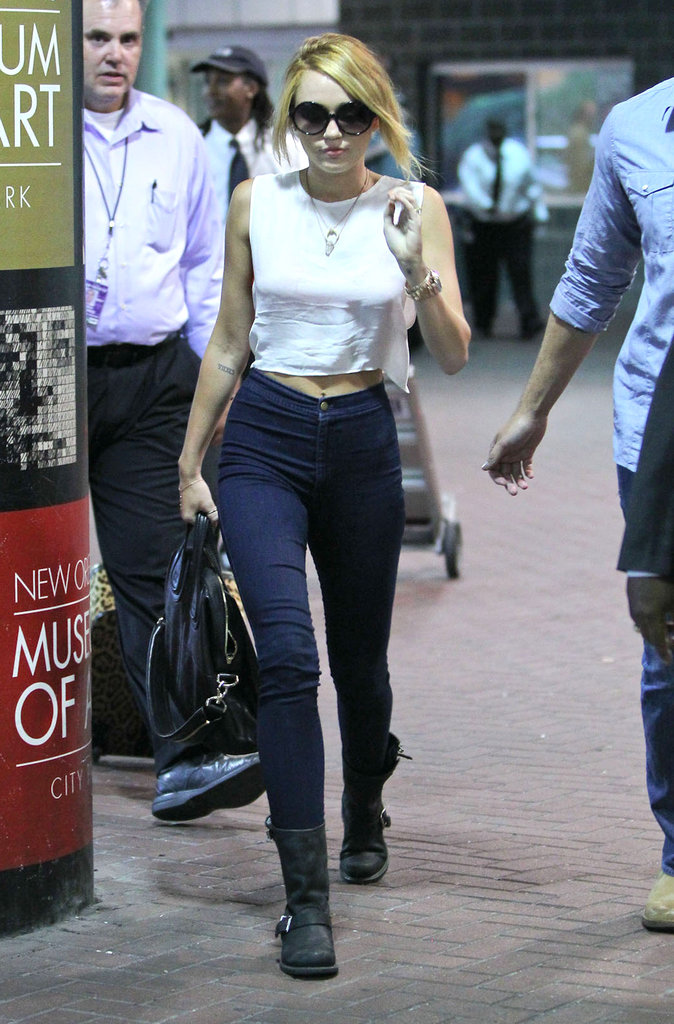 Miley Cyrus looked cute as she arrived in New Orleans.