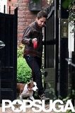 Jamie Hince with Archie the dog.