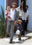 Camila Alves, Matthew McConaughey, and their kids, Levi and Vida, stepped out in Santa Monica in June 2011.
