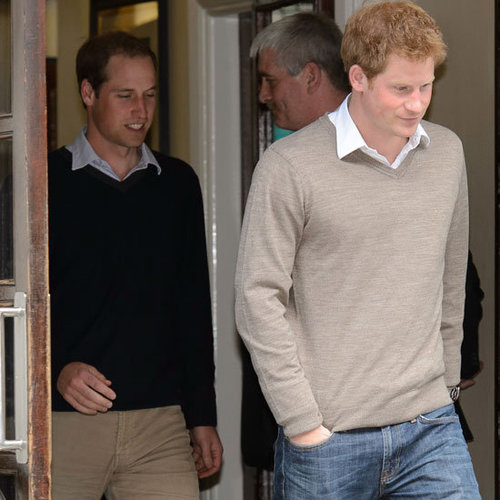 Prince Harry and Prince William Pictures at Philip's Hospital