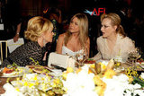 Jennifer Aniston sat at an AFI gala with Meryl Streep and Melanie Griffith.