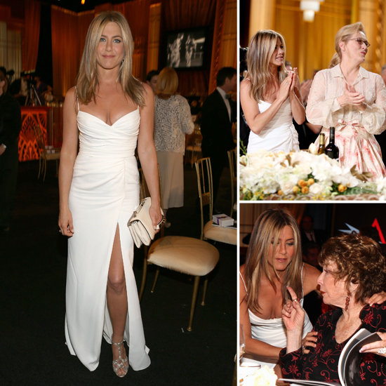 Jennifer Aniston Looks Hot in White to Honor Shirley MacLaine