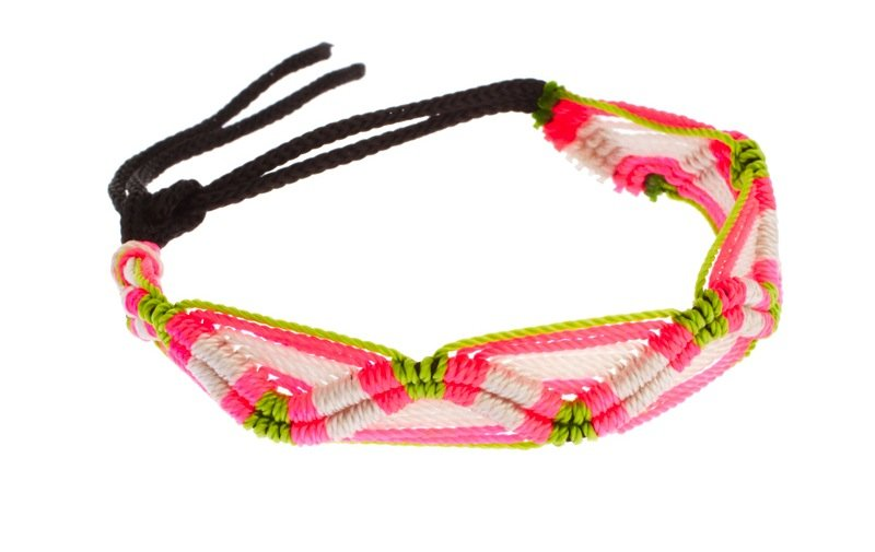 This woven friendship bracelet injects a flash of a color into any outfit.  Asos Neon Curve Friendship Bracelet ($10)