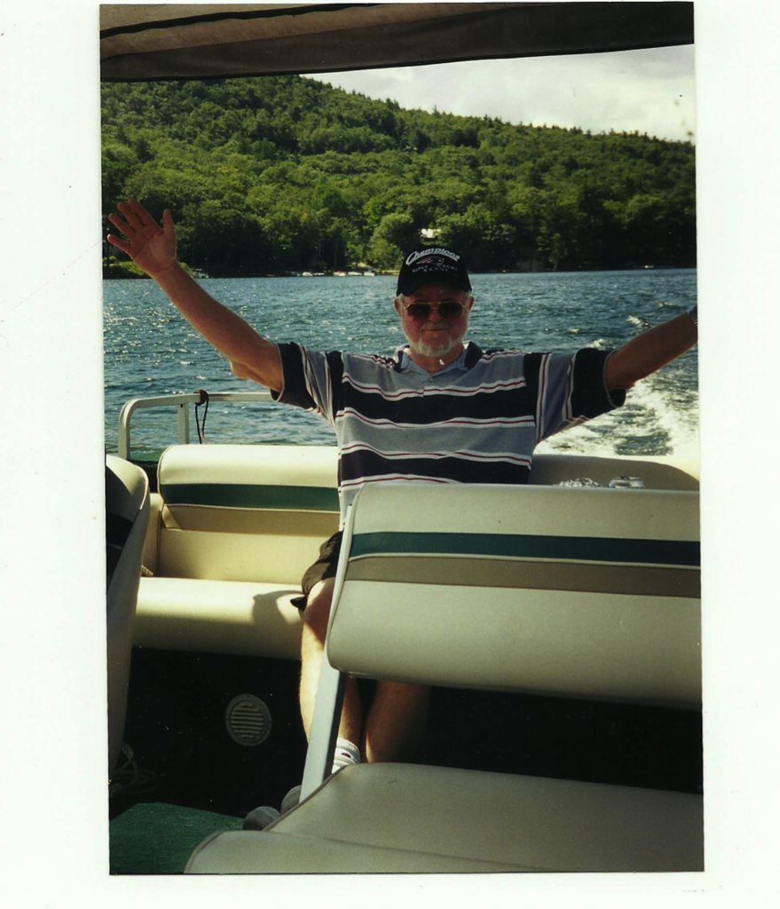 """Here is my dad, Ed, enjoying a vacation on the lake."" — Brian Byrne, ad trafficker"